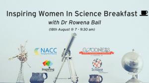 Inspiring Women In Science Breakfast banner