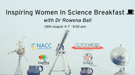 Inspiring Women In Science Breakfast banner